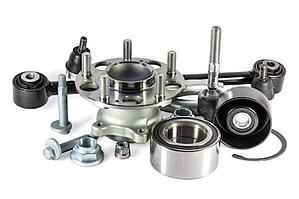 Industrial Parts After Being Treated With Parts Cleaning Solvent