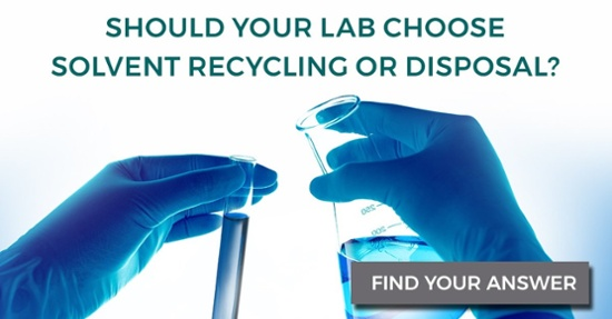 is solvent recycling or disposal the better choice for your lab?